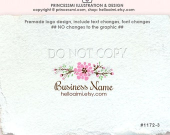 1172-3 Premade Logo Design / Custom photography logo / boutique logo / floral logo /boutique logo watermark  by princessmi