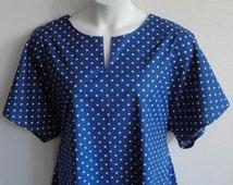 2X - Post Surgery Nightgown - Shoulder / Breast Cancer - Mastectomy / Hospital / Adaptive Clothing / Rehab / Breastfeeding -Style: Erin