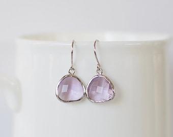 Samantha Earrings - Silver/Lavender