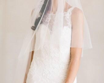Wedding Veil, Floor Length Wedding Veil, Soft Tulle Veil, Drop Veil,  Bridal Veil, Tulle Veil,