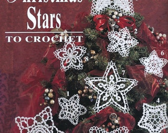Stars and Snowflakes Crochet pattern, Instant download, PDF, Mobile decoration, Christmas ornament