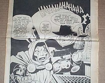 Vintage 1982 The Buyer's Guide for Comic Fandom TBG/CBG 1980's comic book fanzine newspaper issue 429: The Shadow vs Marvel Dr Doom cover