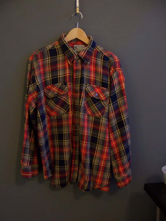 1960s heavy flannel shirt winter flannel the alaskan by for Heavy plaid flannel shirt