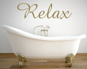 Relax Wall Decal Etsy - Wall decals relax