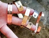 Custom Bracelet, Personalized Hand Stamped Bracelet, Custom Cuff - Your Name, Quote, Personalized Stamped Bracelet, Custom Stamped Bracelet