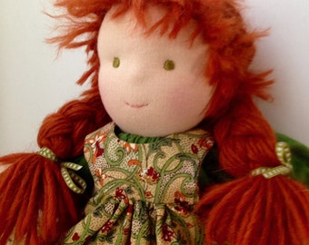 14 inch Red Haired Waldorf Doll