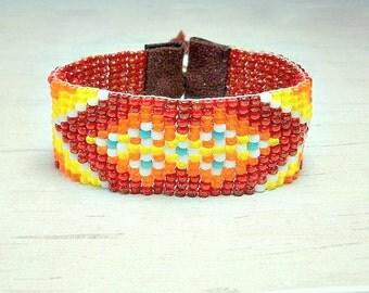 Boho Bracelet - Spring Bracelet - Womens Bracelet - Bead Cuff Bracelet - Adjustable Bracelet - Chic Bracelet - Holiday Gifts