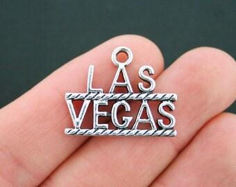 4 Las Vegas Charms Antique Silver Tone - SC5152