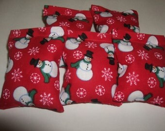 """20 Rice Bags  Snowman  ( 2 x 2 1/2 """" )   Great for Jamberry Nail Wraps ---     By  Terrys Country Shop"""