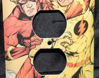 The Flash DC Justice League Zoom Vintage Comic Book Wall Plate Outlet Plug Switchplate Light Cover
