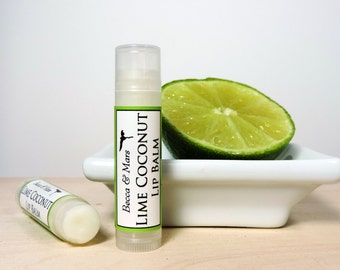 Lip Balm - Lime Coconut Lip Balm - Natural Lip Balm