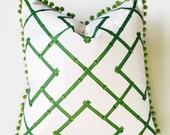Green Bamboo Trellis Osaka Pillow