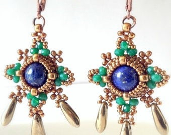 30% DISCOUNT WITH SALE2017 coupon code - byzantine chandelier earrings