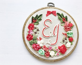 First Married Christmas Monogram Wall Decor