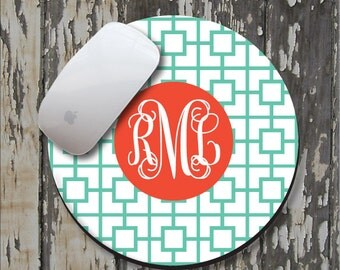 SQUARES REVERSE Personalized Mouse Pad, Personalized Mousepad, Monogram Mouse Pad, Monogram Mousepad, Custom Mouse Pad, Custom Mousepad