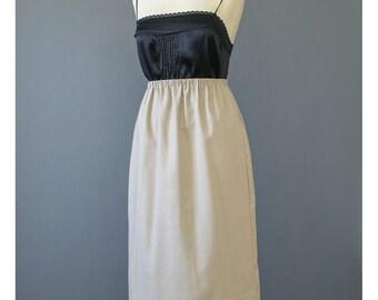 SALE - Vintage Pencil Skirt 70s Skirt Khaki Skirt Safari Skirt Knee Length Skirt Beige Skirt Midi Skirt Secretary Skirt 1970s Skirt