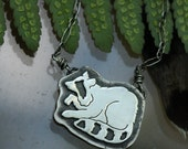 Raccoon Totem Necklace. Silver Raccoon Jewelry. Spirit Animal Necklace.
