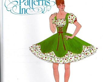 Authentic Pattern 327 Ladies Square Dance Dress Sewing Pattern Size 12 to 16 Bust 34, 36, 38