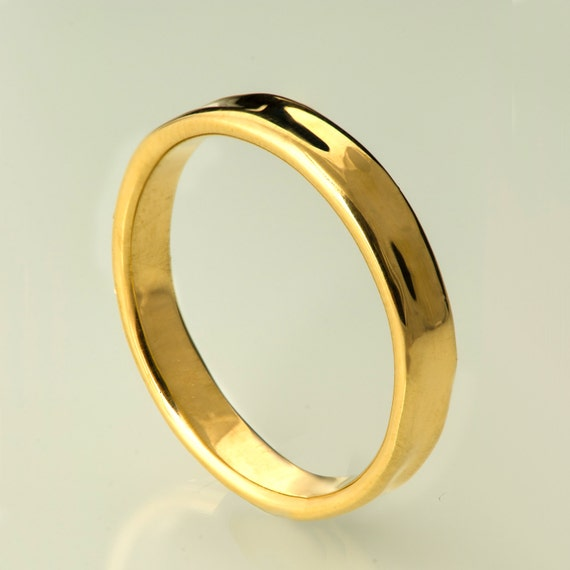 simple gold wedding band 14k gold ring unisex ring by