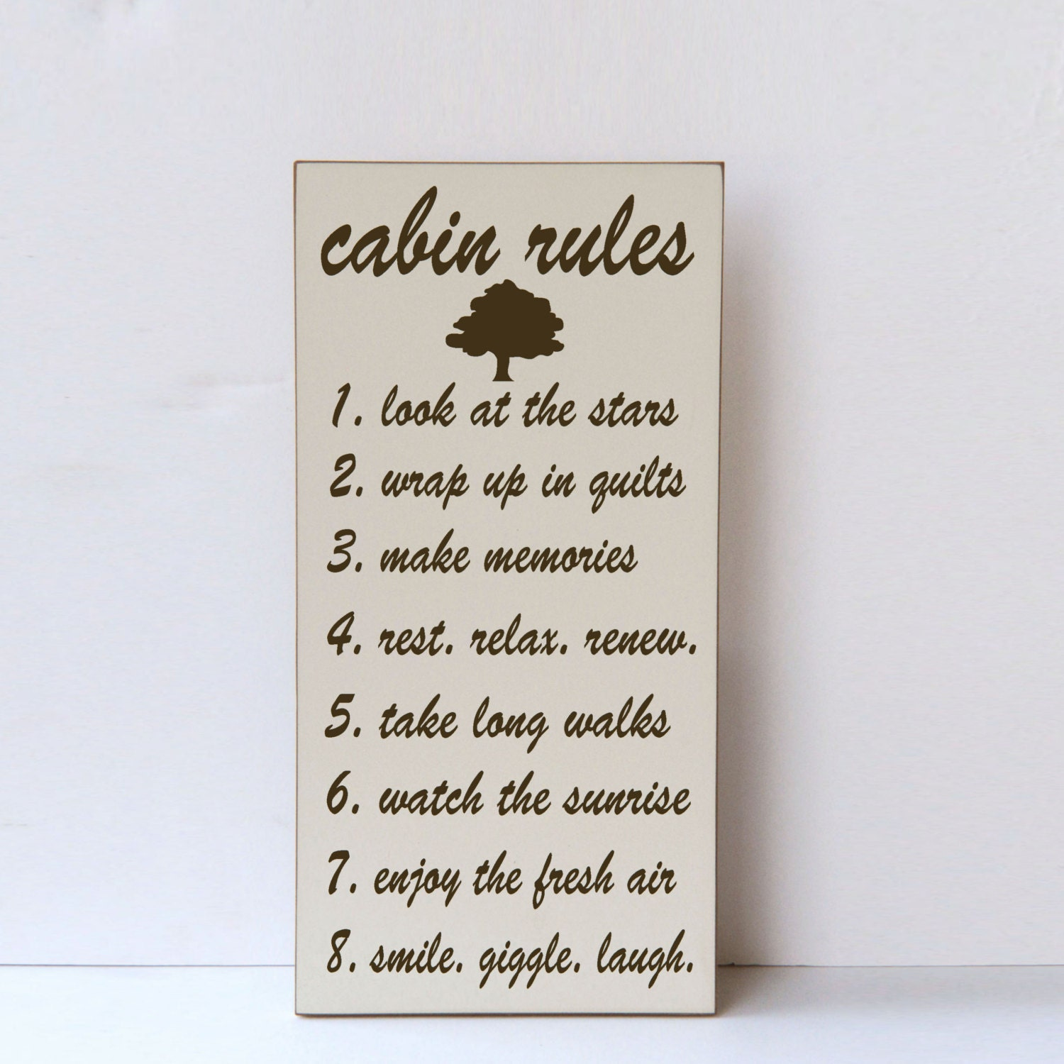 cabin rules wood sign cabin decor rules of the cabin cabin decor shophomexpressions
