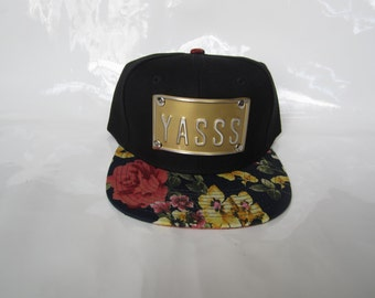 YASSS floral snapback hats  flower snapbacks king slay hat  cap florals caps cali la ny royalty roses king customize custom ny nyc sf