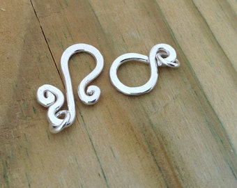 Sterling Silver clasps, sterling silver findings, 16g, large silver clasp, bracelet clasps, necklace clasp, anklet clasp, heavy duty clasp,