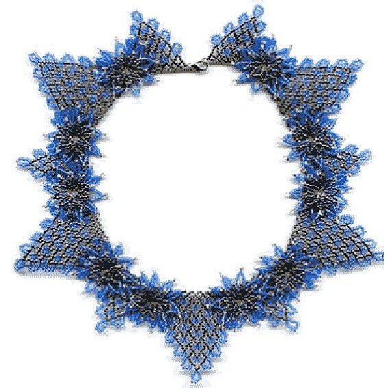 beginner pattern seed beaded flowers necklace