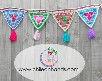 PATTERN ONLY **** Mandala inspired candy bunting