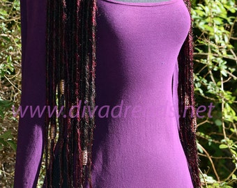 Dread Lock hair falls in Mixed Browns, and Burgundy