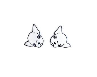 Mini Chihuahua Earrings / Chihuahua Dog / Chihuahua Jewelry / Dog Lover Studs