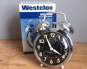 Vintage Westclox Kenyon 1970s Keywound Alarm Clock Talley Industries NOS BOXED