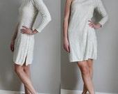 SALE 80s asymmetric sequined bodycon party mini dress, size M/L