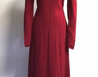 1990s Betsey Johnson Burgundy Maxi Dress/ Size M/ Grunge