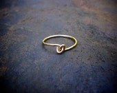Little Love Knot Ring / Small Silver Ring / Stacking Ring / Simple Silver Ring