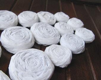 White Paper Roses - set of 20