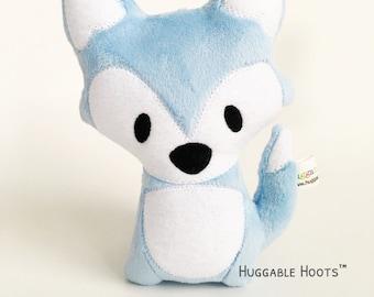 Stuffed Fox (Baby Blue) - Stuffed Animal - Plush Fox - Fox Toy - Soft Toy - Kawaii Plush - Woodland - Personalized Animal - Gifts for Baby