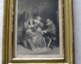 Antique French Lithograph by Julien C1835 Printed by d'Aubert et de Junca in Giltwood Frame