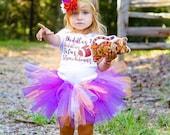 Clemson Tigers Baby Tutu and Flower Headband Set in Orange and Purple