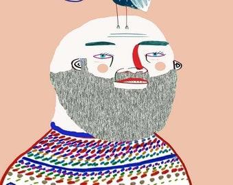 I'm Vegan. illustration print, art, vegan art print, wall decor, wall art, vegan poster.