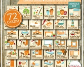 BUNDLE Chore Cards | HUGE Chore Card Collection | Full Set | Orange Theme | 72 Printable Cards | Instant Download | Chores | Bundle