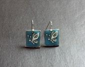 Spring Sale 10% Blue Butterfly Earrings - glow in the dark - Luminance series
