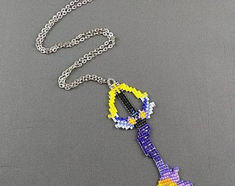 Keyblade Necklace - Star Seeker Keyblade Necklace Sora Keyblade Necklace Kingdom Hearts Jewelry Pixel Necklace Video Game Necklace