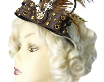 Feathered Headband Fascinator About Time Victorian Steampunk Saloon Western Cosplay
