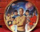 STAR TREK,James T Kirk,Mr.Spock,McCoy,Sulu,Scotty,Uhura,Chekov,Starship Enterprise,NBC,25th Ann,Hamilton,Limited Edition Collectors Plate