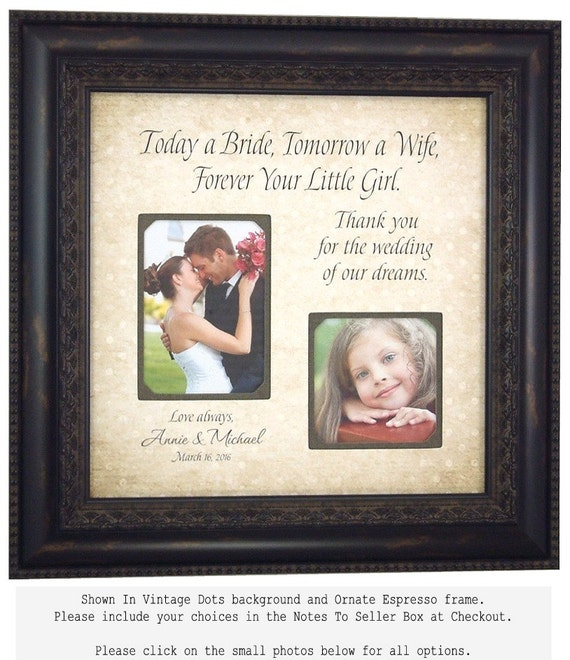 Personalized Picture Frame Parents Wedding Gift For Mother Of