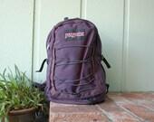 Vintage Jansport Backpack 90s Blue Back Pack Book Bag School Bag Student Hipster Ruck Sack Pack Vegan Old School Pouch Hiker Hiking Biker