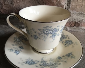 Vintage Michelle Royal Doulton Cup & Saucer Romance Collection Fine Bone China England - #5753