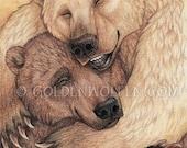 Hugging Bears Mini Print