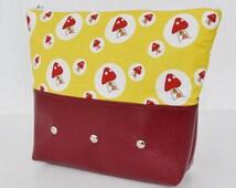 Mushroom and Toadstool Cottage Makeup Bag