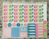 Pregnancy Planner Stickers, Pregnancy Countdown, Pregnancy Tracker, Erin Condren Stickers, Coil Insert Sticker - 0028